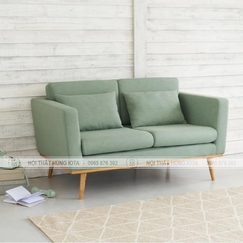 Sofa gia đình đơn giản màu xanh nhạt đẹp giá rẻ