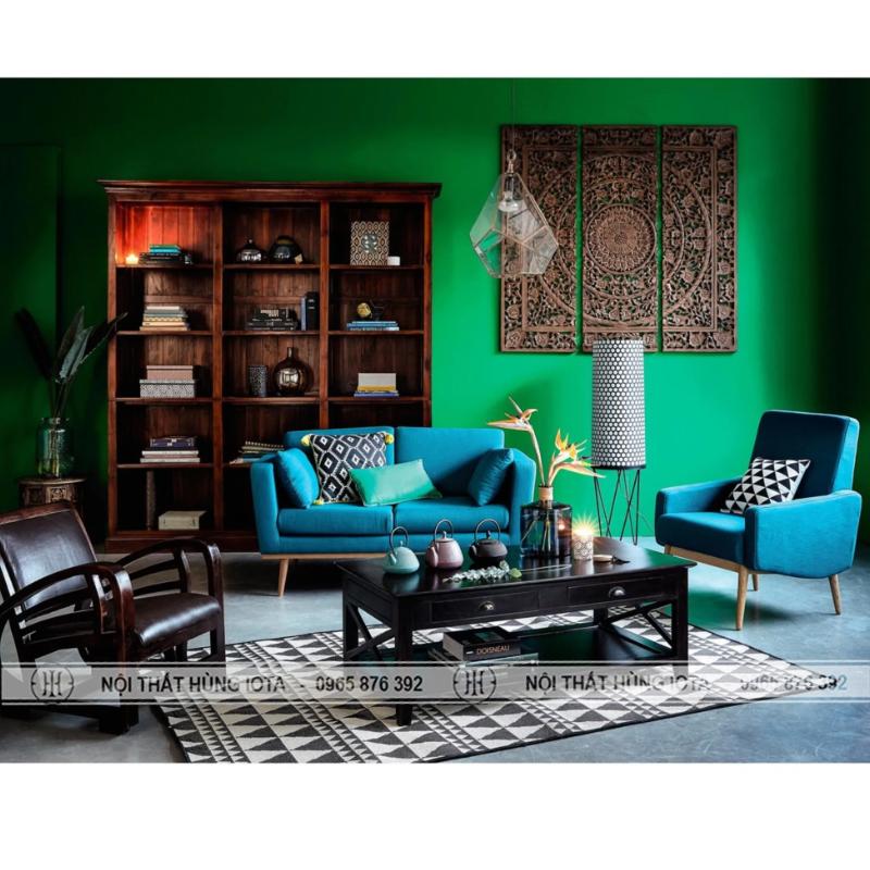 Sofa gia đình màu xanh ngọc, sofa gia đình màu xanh biếc
