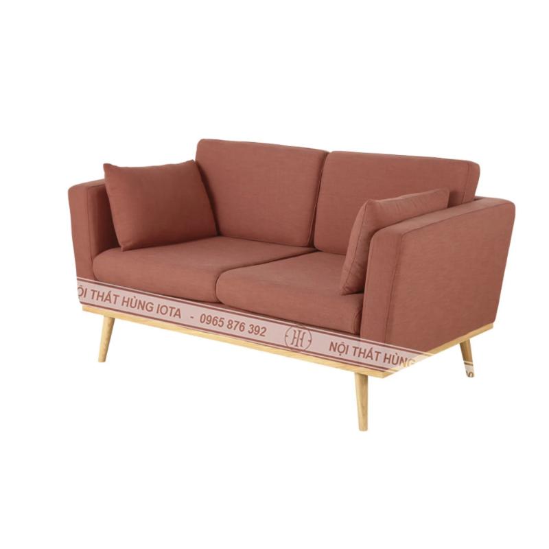 Sofa chờ spa màu hồng, sofa tiệm nail, sofa chờ salon tóc