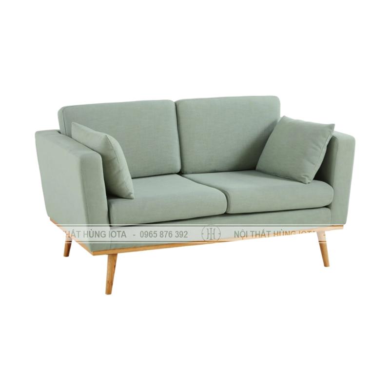 Sofa spa đơn giản màu xanh, sofa tiệm nail đơn giản màu xanh, sofa salon tóc màu xanh nhạt