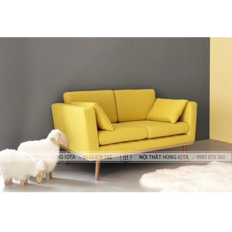 Sofa tiệm nail đơn giản, sofa tiệm làm móng màu vàng