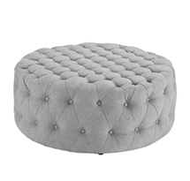 Đôn tròn sofa spa màu xám, đôn tròn sofa gia đình xám đẹp giá rẻ SPS08