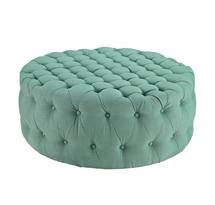 Đôn tròn sofa spa màu xanh, đôn tròn sofa gia đình xanh dương đẹp giá rẻ SPS09