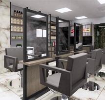 Gương cắt tóc 2 mặt màu xám đen cho salon tóc đẹp giá rẻ GCT16