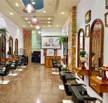 Gương cắt tóc màu vàng nâu mái vòm đẹp giá rẻ cho tiệm cắt tóc GCT15