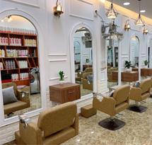 Gương cắt tóc màu trắng mái vòm đẹp giá rẻ GCT11