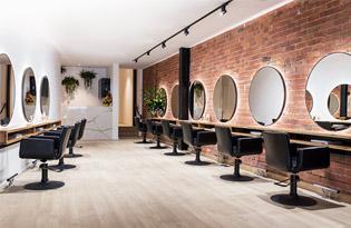 Thumb nội thất salon tóc gương tròn cắt tóc giá rẻ