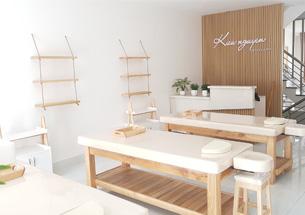 Thumb nội thất spa decor màu gỗ tự nhiên
