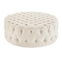 Đôn tròn sofa spa màu trắng đẹp giá rẻ SPS07