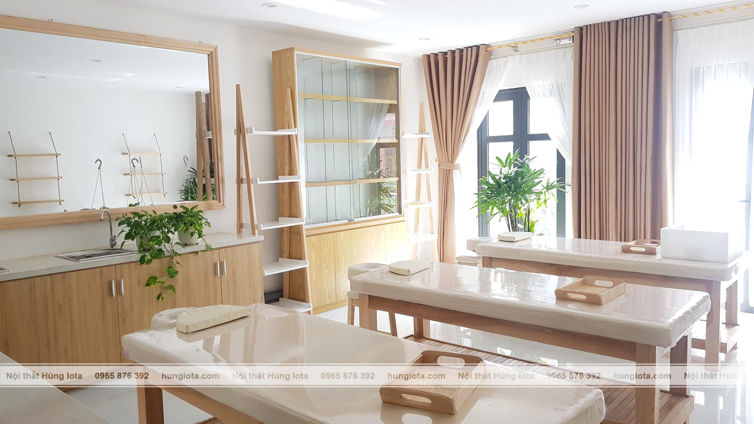 Tủ sản phẩm decor spa, tủ gương spa decor đẹp giá rẻ