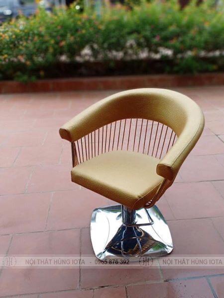 Ghế cắt tóc màu vàng dạng lưới đẹp giá rẻ