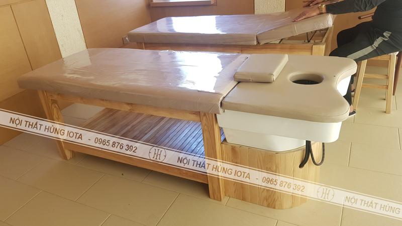Giường gội spa cho khách sạn và giường spa hotel