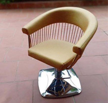 Ghế cắt tóc màu vàng dạng lưới GCT05