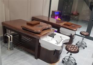 Thumb giường gội massage 2 in 1 gỗ sồi màu nâu óc chó