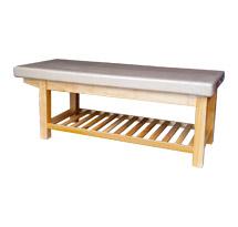 Giường spa màu trắng be màu vàng gỗ tự nhiên GS24