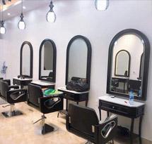 Gương cắt tóc vòm nhỏ giá rẻ màu đen GCT23