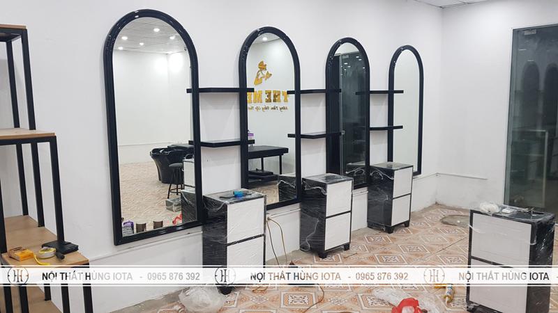 Lắp đặt gương cắt tóc mái vòm tại Ninh Bình