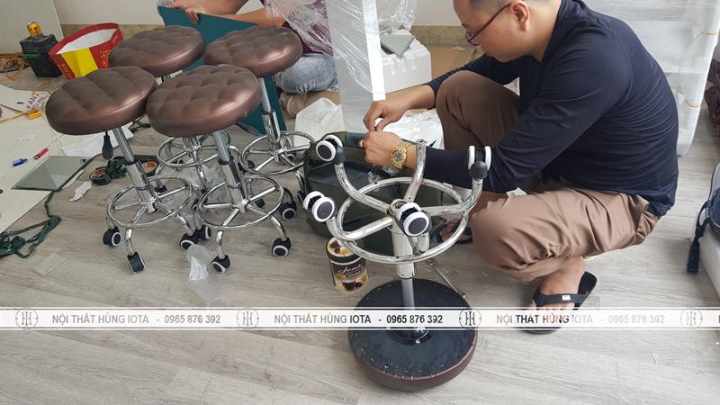 Ghế spa inox nâng hạ thủy lực ở Nam Định