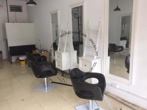 Gương cắt tóc giá rẻ màu trắng hình chữ nhật
