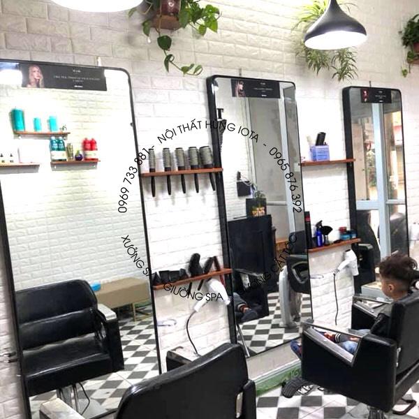 Gương cắt tóc tràn viền hình chữ nhật giá rẻ đẹp