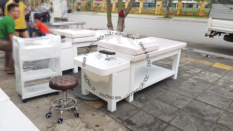 Lắp đặt giường gội dưỡng sinh cho spa tại Từ Sơn