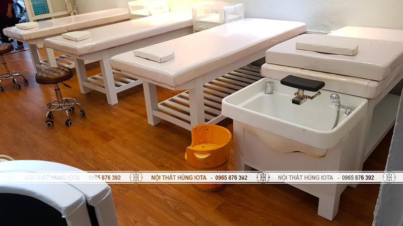 Lắp đặt giường gội massage dưỡng sinh 2 in 1 tại Nam Định