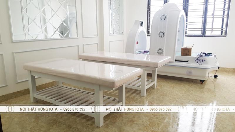 Lắp đặt giường spa cho Thẩm Mỹ vienejowr nam Định