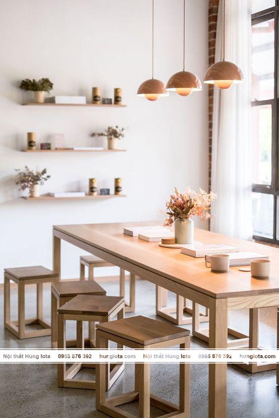 Sản phẩm nội thất gia đình - bàn ghế gỗ decor