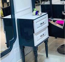 Tủ cạnh gương cắt tóc chân tròn tiện TCG02