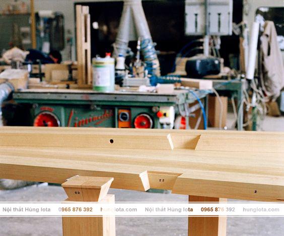Xưởng sản xuất sản phẩm kệ gỗ decor Hùng Iota