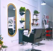 Gương cắt tóc bo tròn 2 đầu màu vàng giá rẻ GCT26