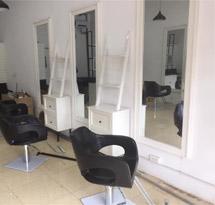Gương cắt tóc giá rẻ màu trắng hình chữ nhật GCT25
