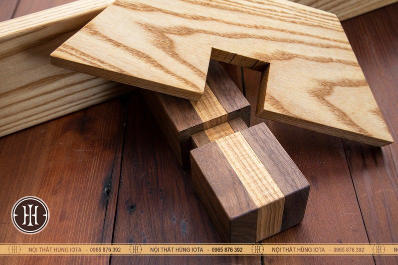 Cấu tạo kệ gỗ decor đợt ngang treo tường cho spa