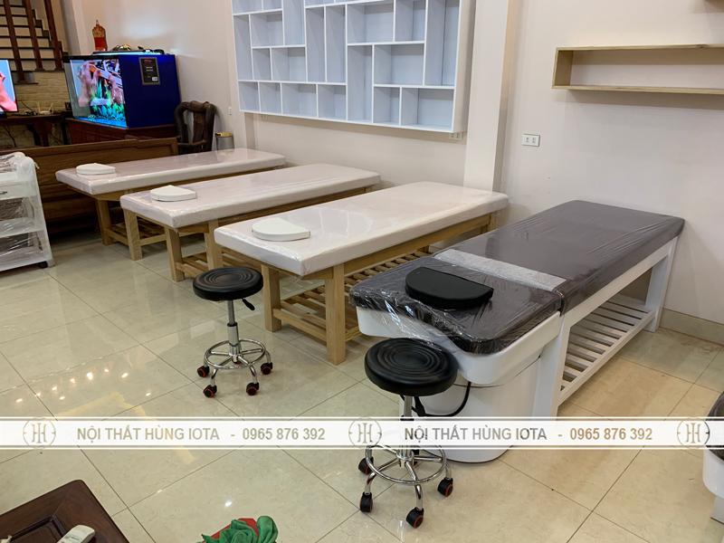 Giường gội dưỡng sinh spa 2 in 1 bồn sứ ở Bắc Ninh