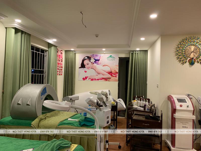 Giường spa cho thẩm mỹ viện tại chung cư Linh Đàm