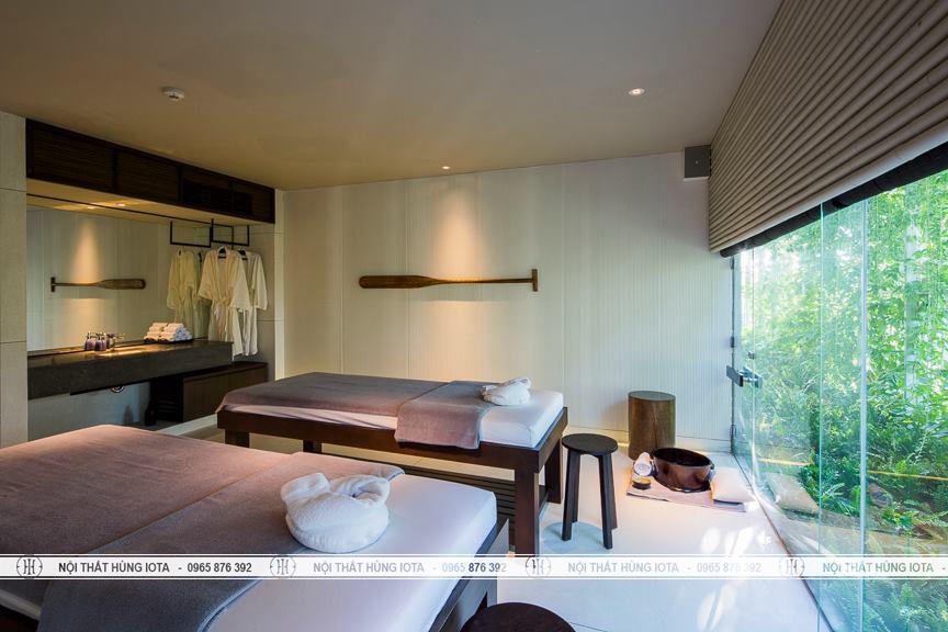 Giường spa thiết kế luxury cho hotel, thẩm mỹ viện