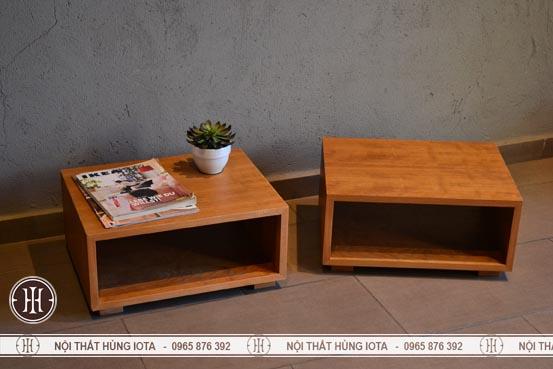 Hộc gỗ decor hình chữ nhật trang trí phòng
