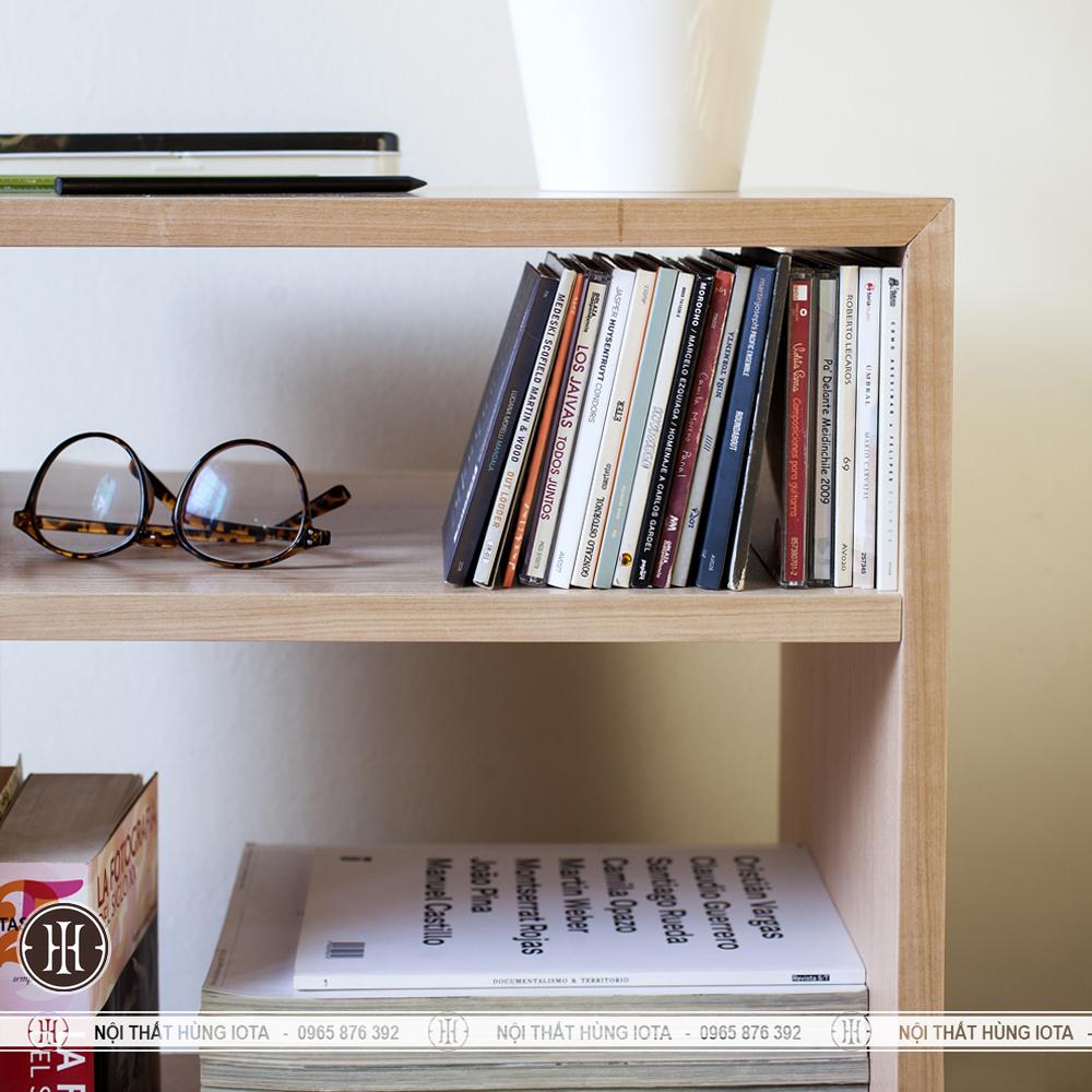Hộc gỗ đựng sách đơn giản cho gia đình, spa, nail, salon tóc