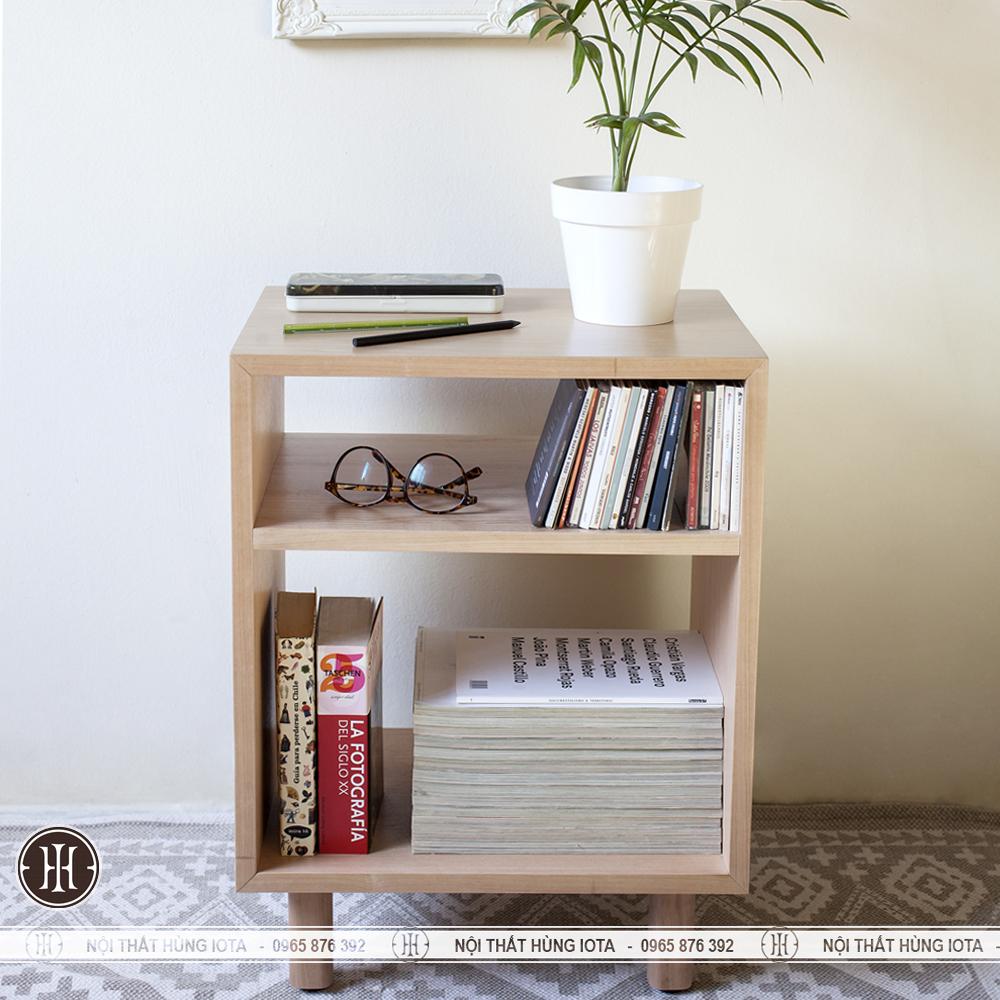 Hộc tủ gỗ đựng đồ đơn giản cho phòng khách, phòng ngủ gia đình