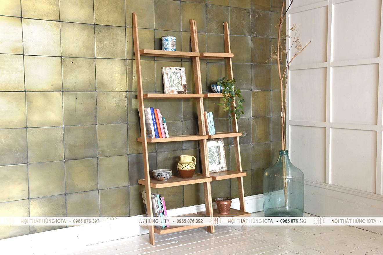 Kệ gỗ đựng đồ gia đình trang trí phòng decor 5 tầng