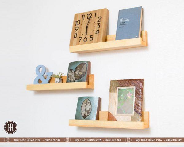 Kệ treo tường đựng sách chữ U gỗ