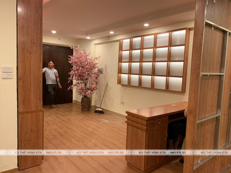 Lắp đặt tủ vách cho spa tai bán đảo Linh Đàm