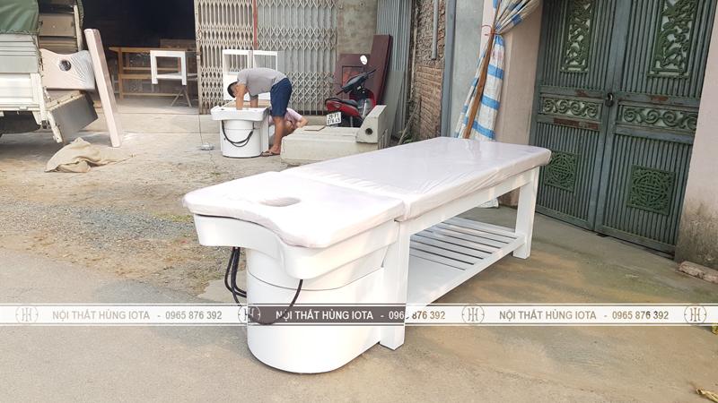 Sản xuất giường gội dưỡng sinh cho chị Hương Skincare ở Nguyễn Tuân