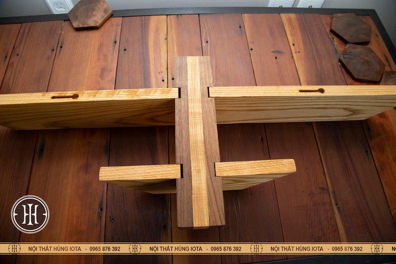 Thiết kế kệ gỗ ngang trang trí phòng decor