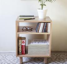 Hộc gỗ đựng đồ 2 tầng phòng khách gia đình, spa, nail TDD05