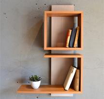 Kệ gỗ đựng sách treo tường nhà, spa, nail KTD20