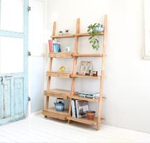 Kệ gỗ sồi hình thang 5 tầng decor đựng đồ TDD16