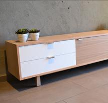 Kệ gỗ tivi decor hình chữ nhật TDD12