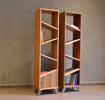 Tủ gỗ đựng đồ đợt lệch 5 tầng cho phòng khách TDD02
