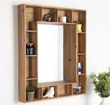 Tủ gỗ treo tường cho spa, nail, salon tóc KTD10